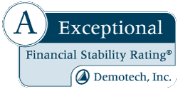 A Exceptional Financial Stability Rating® DemoTech, Inc.
